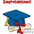 4297-graduate-blue-cap-with-diploma-and-text-congratulations!  gif, png, jpg, eps, svg, pdf