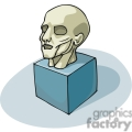 cartoon head muscular structure  gif, png, jpg, eps, svg, pdf