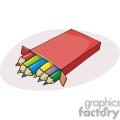 Cartoon box of colored pencils