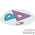 Cartoon triangle measuring tool
