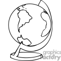 Black and white outline of a globe