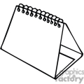 black and white outline of a spiral studying notepad  gif, png, jpg, eps, svg, pdf
