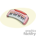 cartoon pink musical keyboard  gif, png, jpg, eps, svg, pdf