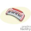 Cartoon pink musical keyboard