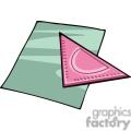 Cartoon geometry measuring triangle