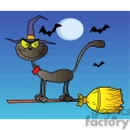 black cat on a witch broom gif, png, jpg, eps, svg, pdf