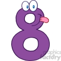 5015-Clipart-Illustration-of-Number-Eight-Cartoon-Mascot-Character