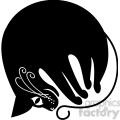 vector clip art illustration of black cat 080  gif, png, jpg, eps, svg, pdf