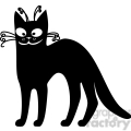 vector clip art illustration of black cat 009