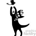 vector clip art illustration of black cat 007  gif, png, jpg, eps, svg, pdf