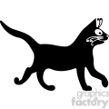 vector clip art illustration of black cat 089