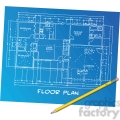 vector-blueprint-illustration-clipart-image-with-pencil 001