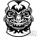 black and white Tiki