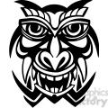 ancient tiki face masks clip art 049