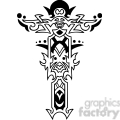 cross clip art tattoo illustrations 043