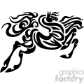 jumping tribal horse art