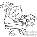 5085-Santa-Zombie-Walking-With-Hands-In-Front-Royalty-Free-RF-Clipart-Image