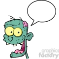 5073-Blue-Zombie-Head-Cartoon-Character-With-Speech-Bubble-Royalty-Free-RF-Clipart-Image
