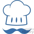 royalty-free-rf-clipart-blue-chef-hat-with-a-mustache-logo  gif, png, jpg, eps, svg, pdf