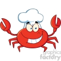 crab-chef-cartoon-mascot-character  gif, png, jpg, eps, svg, pdf