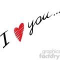 I love you written