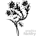 chinese swirl floral design 061  gif, png, jpg, eps, svg, pdf