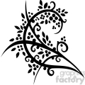 chinese swirl floral design 034  gif, png, jpg, eps, svg, pdf