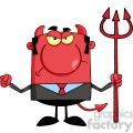 royalty free angry devil with a trident  gif, png, jpg, eps, svg, pdf
