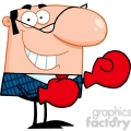 Royalty Free Smiling Business Manager With Boxing Gloves