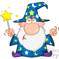 royalty free angry wizard waving with magic wand  gif, png, jpg, eps, svg, pdf