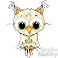 Owl Front View Colored 2