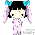 Girl in pink Bunny costume
