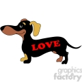 dachshund with love on its side gif, png, jpg, eps, svg, pdf