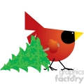 red cardinal 04 tree  gif, png, jpg, eps, svg, pdf