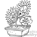black and white cartoon flower bullies