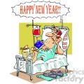 cartoon happy new year morning after