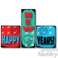 Happy New Years Blocks 01 clipart