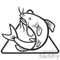 black and white catfish jump mp dia  gif, png, jpg, eps, svg, pdf