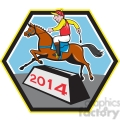jockey ridinghorse side 2014