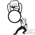 black and white kettle bell hand strong man  gif, png, jpg, eps, svg, pdf