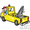 tow truck driver rear