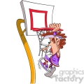 kid slam dunking a basketball