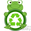 5659 royalty free clip art happy frog hugging banner with recycle symbol  gif, png, jpg, eps, svg, pdf