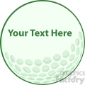 5691 Royalty Free Clip Art Green Golf Ball Sign