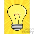 6003 Royalty Free Clip Art Shining Light Bulb