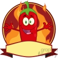 6786 Royalty Free Clip Art Red Chili Pepper Cartoon Mascot Logo