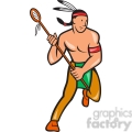 lacrosse indian player running  gif, png, jpg, eps, svg, pdf