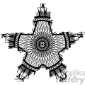 nautical star tattoo design vector illustration