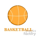 Royalty Free RF Clipart Illustration Abstract Basketball Over A White Background With Text Flat Design