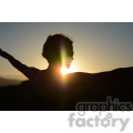 silhouette of female in sunset  jpg